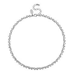 Jon Richard - Silver tennis crystal necklace embellished with Swarovski crystals
