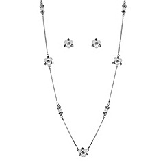 Alan Hannah Devoted - Designer silver pearl and crystal cluster jewellery set