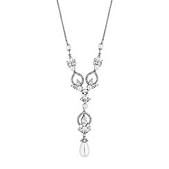 Alan Hannah Devoted - Designer silver cubic zirconia and pearl pendant necklace