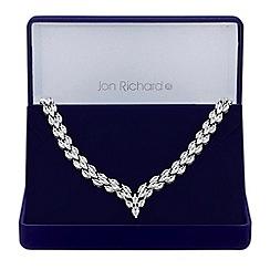 Jon Richard - Silver cubic zirconia statement necklace
