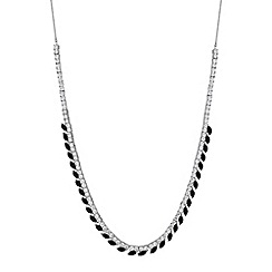 Jon Richard - Black crystal navette statement necklace