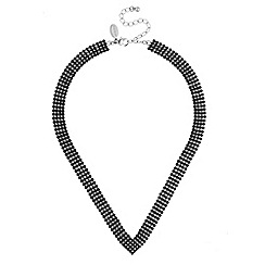 Jon Richard - Black crystal diamante statement necklace