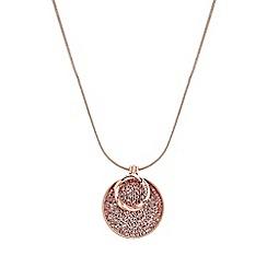 Jon Richard - Rose Gold Plated Clear Polished Pendant Necklace Embellished With Swarovski® Crystals