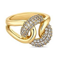 Jon Richard - Gold crystal knot ring