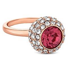 Jon Richard - Rose gold crystal pave ball ring