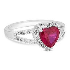 Jon Richard - Crystal heart ring