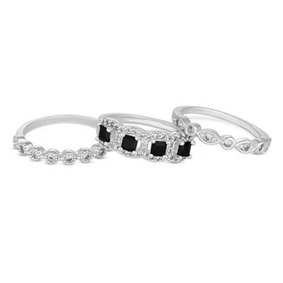 jon richard crystal stacking ring set