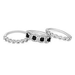 Jon Richard - Crystal stacking ring set