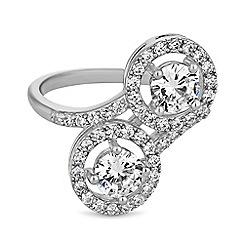 Jon Richard - Cubic zirconia double halo ring