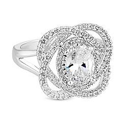 Jon Richard - Pave loop cubic zirconia ring
