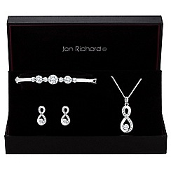 Jon Richard - Silver crystal infinity jewellery set