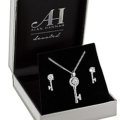Alan Hannah Devoted - Designer key to my heart jewellery set in a gift box