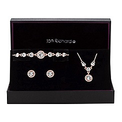 Jon Richard - Crystal halo trio jewellery set