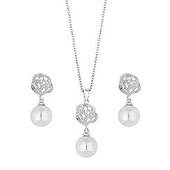 Jon Richard - Pearl and rose jewellery set