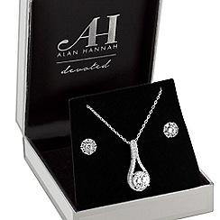 Alan Hannah Devoted - Designer peardrop jewellery set in a gift box