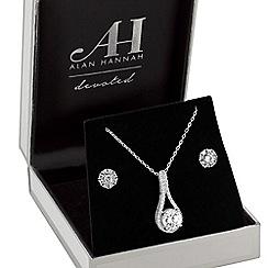 Alan Hannah Devoted - Designer peardrop jewellery set in a gift box