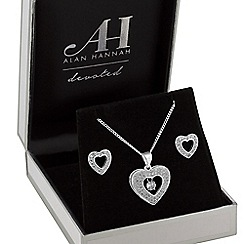 Alan Hannah Devoted - Designer heart jewellery set in a gift box