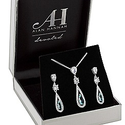 Alan Hannah Devoted - Designer crystal pear drop jewellery set