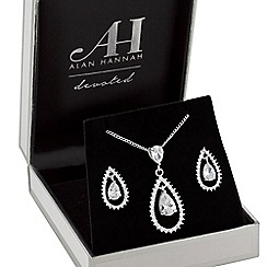 Alan Hannah Devoted - Designer open pear drop jewellery set