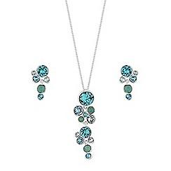 Jon Richard - Shimmer crystal cluster jewellery set created with Swarovski crystals