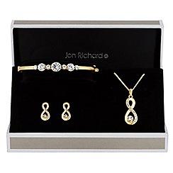 Jon Richard - Crystal infinity trio jewellery set