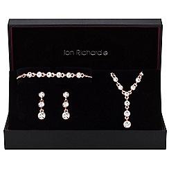 Jon Richard - Rose gold graduated crystal drop jewellery set