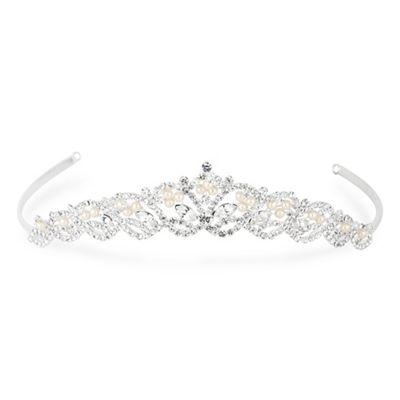 jon richard diamante navette pearl tiara