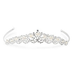 Jon Richard - Diamante navette pearl tiara