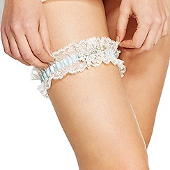 Alan Hannah Devoted - Online exclusive crystal floral lace garter