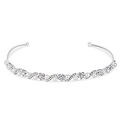 Jon Richard - Isabella crystal and pearl flower headband