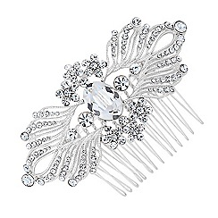 Jon Richard - Olivia mini flower crystal hair comb