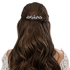 Jon Richard - Crystal embellished floral hair comb