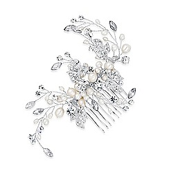Alan Hannah Devoted - Designer blossom freshwater pearl and crystal comb