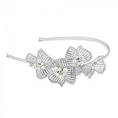 Jon Richard - Statement 3-d pearl and diamante flower headband