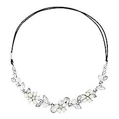 Jon Richard - Pearl flower and crystal halo headband
