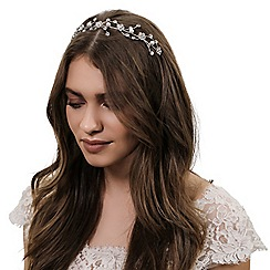 Jon Richard - Crystal flower and pearl wave headband