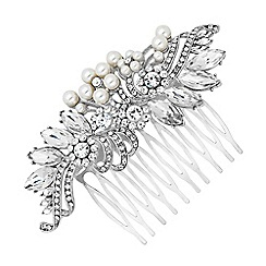 Jon Richard - Statement pearl and navette swirl hair comb