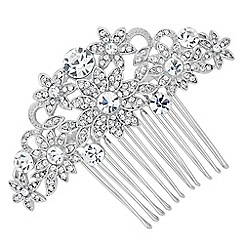Jon Richard - Crystal embellished sunflower hair comb