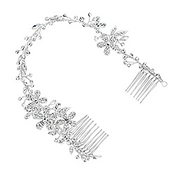 Alan Hannah Devoted - Designer crystal flower wrap around double hair comb