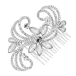 Alan Hannah Devoted - Designer navette embellished swirl hair comb