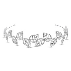 Jon Richard - Diamante crystal embellished leaf headband