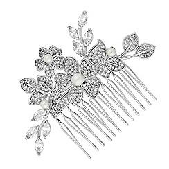 Alan Hannah Devoted - Freya flower and pearl hair comb