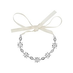 Jon Richard - Silver navette hair ribbon halo