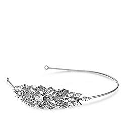 Jon Richard - Silver crystal pave swirl headband