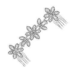 Jon Richard - Silver double flower headband