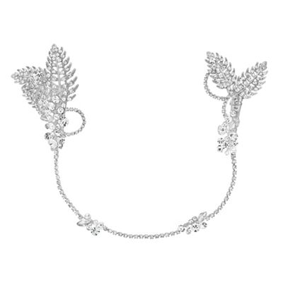 jon richard maia leaf and crystal double wraparound comb