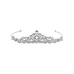 Jon Richard - Silver pearl and crystal swirl tiara