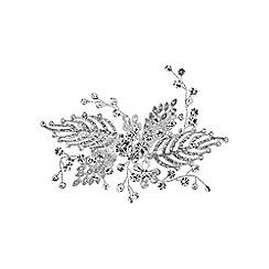 Jon Richard - Silver feather hair comb