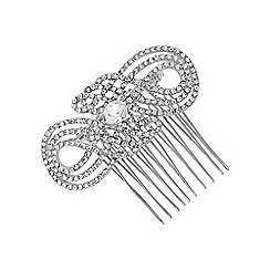 Jon Richard - Silver crystal swirl hair comb