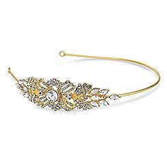 Jon Richard Women's Freshwater pearl and swirl side headband 1mYA7YD9